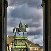 John Of Saxony Monument - Dresden Theatre Square Poster