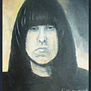 Johnny Ramone The Ramones Portrait Poster by Kristi L Randall
