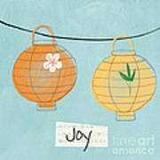 Joy Lanterns Poster by Linda Woods