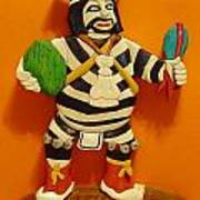Kachina Clown  Poster by Russell Ellingsworth