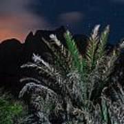 Kalalau Mountains At Night Poster