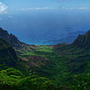 Kalalau Valley 3 Poster by Ken Smith
