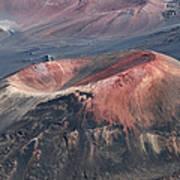 Kamaolii Cinder Cone - Haleakala Crater - View From Kalahaku  Poster
