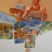 Kansas Track Runner Poster