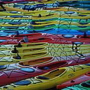 Kayak Row Poster