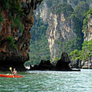Kayaking In Thailand Poster