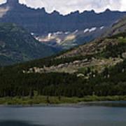 Kayaks On Swiftcurrent Lake Poster