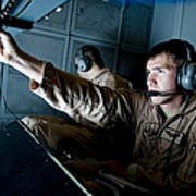 Kc-10 Extender Boom Operator Adjusts Poster