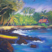 Kealakekua Bay Poster by Karin  Leonard