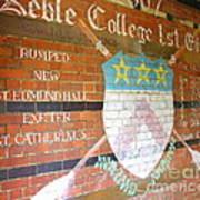 Keble College 2007 Rowing Standings Poster