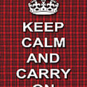 Keep Calm And Carry On Poster Print Red Black Stripes Background Poster