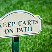 Keep Carts On Path Poster