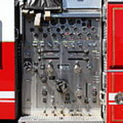 Kensington Fire District Fire Engine Control Panel . 7d15856 Poster by Wingsdomain Art and Photography
