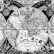 Keplers World Map, Tabulae Poster by Science Source