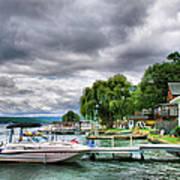 Keuka Lake Shoreline Poster