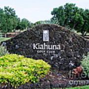 Kiahuna Golf Club Poster