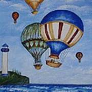 Kid's Art- Balloon Ride Poster