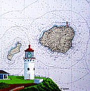 Kilauea Point Lighthouse On Noaa Chart Poster