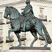 King Charles IIi Statue In Madrid Poster