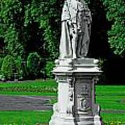 King Edward Vii Statue - Lichfield Poster
