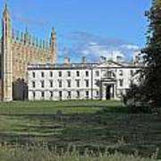 Kings College Chapel And The Gibbs Building Poster