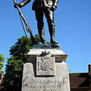 Kings Royal Rifle Corps Memorial In Winchester Poster
