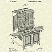 Kitchen Cabinet 1889 Patent Art Poster