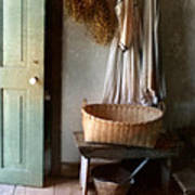 Kitchen Door In Old House Poster