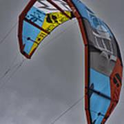 Kite Surfing Poster by Douglas Barnard