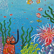 Kittyboy Goes Snorkeling Poster