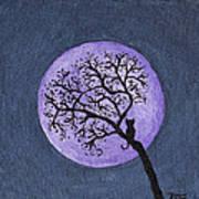Kittyboy Moon Poster