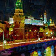 Kremlin Lights Poster