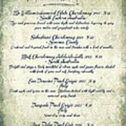 La Familia Wine List 2003 Canvas Art Poster