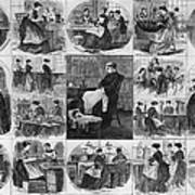 Labor: Women, 1868 Poster