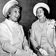 Lady Bird Johnson And Muriel Humphrey Poster by Everett
