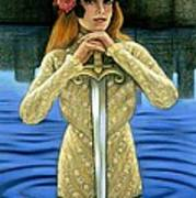 Lady Of The Lake Poster by Sue Halstenberg