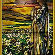 Lady Stained Glass Window Poster by Thomas Woolworth