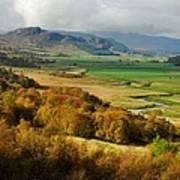 Laggan Autumn - The Clan Mcphersons Seat Poster by John Kelly