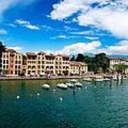 Lago Di Garda In Italy In Early Spring  Poster
