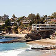 Laguna Beach Waterfront Homes Poster