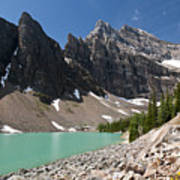Lake Agnes And Mt Whyte Poster