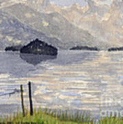 Lake Kilarney Ring Of Kerry Watercolour Painting Poster