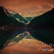 Lake Louise Abstract Poster