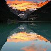 Lake Louise Sunrise Poster