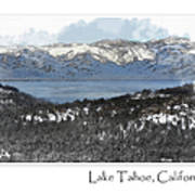 Lake Tahoe California In Winter Poster