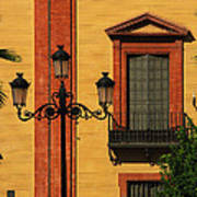 Lamp And Window In Sevilla Spain Poster