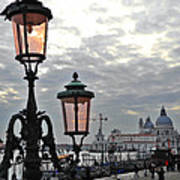 Lamp At Venice Poster