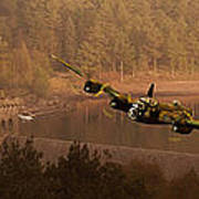 Lancaster Over The Dams Poster