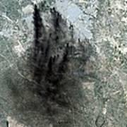 Landsat Image Of Baghdad Showing Dark Poster