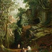 Landscape Near Clifton Poster by Francis Danby